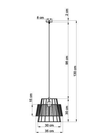 Visící lampa GATE černá E27 SL.0663 Sollux