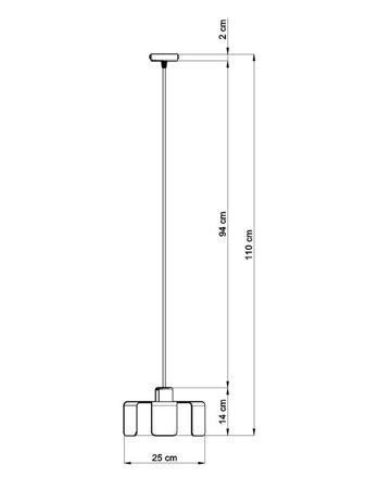 Visící lampa TULIP černá E27 SL.0667 Sollux