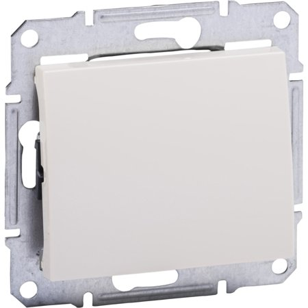Vypínač 1-pólový bez rámečku, krémová Schneider Electric Asfora EPH0101423