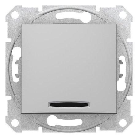 Vypínač 1-pólový s podsvícením hliník Sedna SDN1400160 Schneider Electric