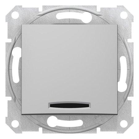 Vypínač 1-pólový se signalizací zapnutí hliník Sedna SDN0400360 Schneider Electric