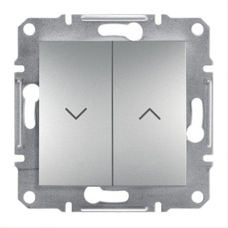 Žaluziový vypínač bez rámečku, hliník Schneider Electric Asfora EPH1300561