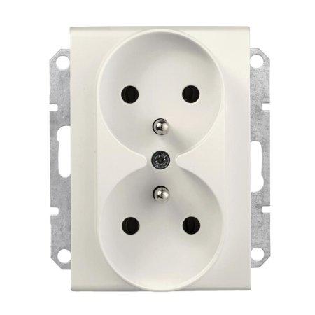 Zásuvka 2 x 2P+PEdorámečkového systému krémová Sedna SDN2801923 Schneider Electric