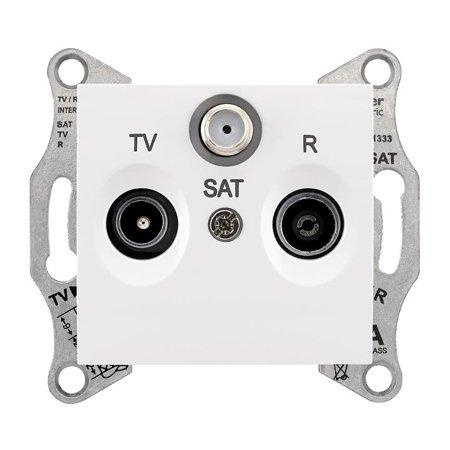 Zásuvka R/TV/SAT průchozí 4dB bílá Sedna SDN3501421 Schneider Electric