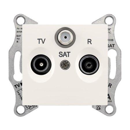 Zásuvka R/TV/SAT průchozí 8dB krémová Sedna SDN3501223 Schneider Electric