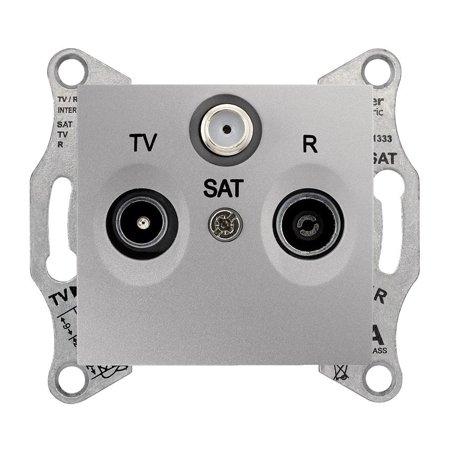 Zásuvka R/TV/SAT průchozí 8db hliník Sedna SDN3501260 Schneider Electric