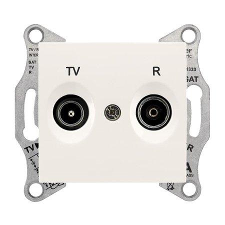 Zásuvka R/TV průchozí 8dB krémová Sedna SDN3301323 Schneider Electric