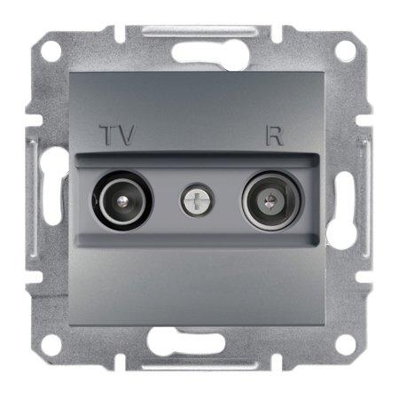 Zásuvka RTV koncová bez rámečku, ocel Schneider Electric Asfora EPH3300162