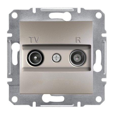 Zásuvka RTV průchozí (4dB) bez rámečku, hnědá Schneider Electric Asfora EPH3300269