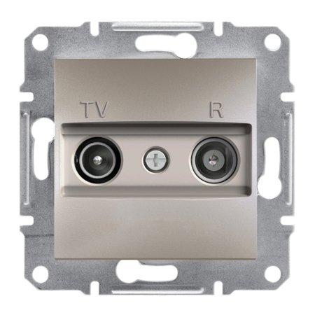 Zásuvka RTV průchozí (8dB) bez rámečku, hnědá Schneider Electric Asfora EPH3300369