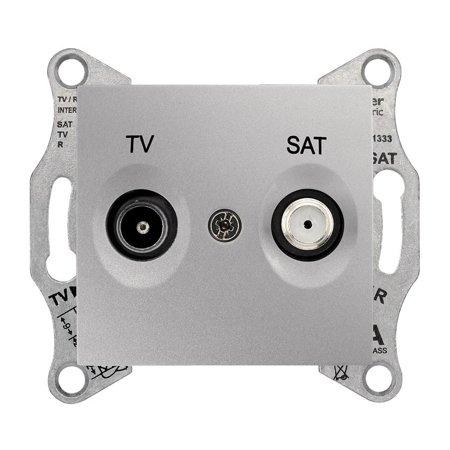 Zásuvka TV/SAT průchozí 4dB hliník Sedna SDN3401960 Schneider Electric
