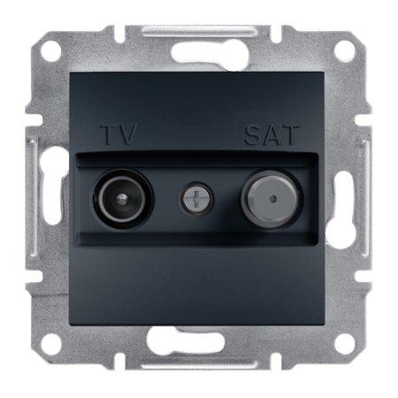 Zásuvka TV-SAT průchozí (8dB) bez rámečku, antr Schneider Electric Asfora EPH3400371