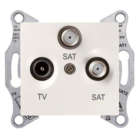 Zásuvka Tv/SAT/SAT koncová krémová Sedna SDN3502123 Schneider Electric