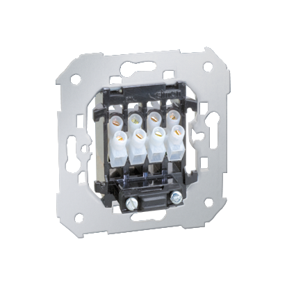 Zásuvka reproduktoru jednonásobná nebo dvojitá z 45mm, 380V~) Kontakt Simon 82 75801-39