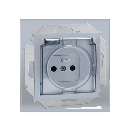 Zásuvka s uzemněním pro verzi IP44 šroubové koncovky, hliník (kov) Kontakt Simon 1591940-026A