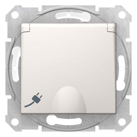 Zásuvka schuko IP44, krémová Sedna SDN3100323 Schneider Electric