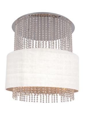 Závěsná lampa Glamour kruh bílá Azzardo 101163R SP5 WH