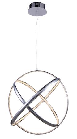 Závěsná lampa Globus kruhovitá chrom Azzardo MP65013-3A
