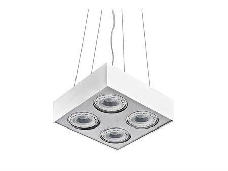 Závěsná lampa Paulo 4 230V LED 15W stmívatelné bílá hliník Azzardo GM5400