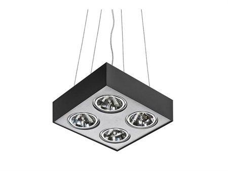 Závěsná lampa Paulo 4 230V LED 15W stmívatelné černá hliník Azzardo GM5400