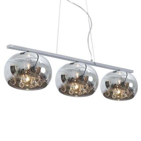 Závěsná lampa lišta stříbrná transparentní 3xG9 Zuma Line Crystal Pendant P0076-03S-F4FZ