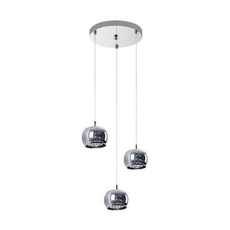 Závěsná lampa stříbrná transparentní 3xG9 Zuma Line Crystal Pendant P0076-03M-B5FZ