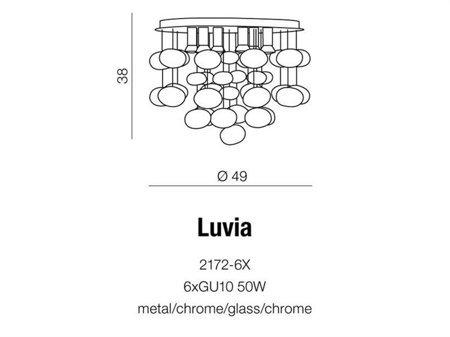 Závěsná stropní lampa Luvia chrom Azzardo AZ2541